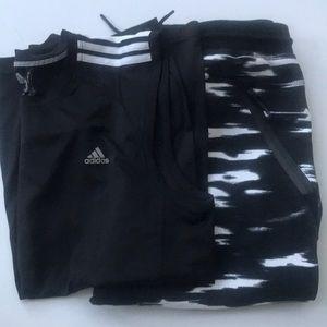 NWT Adidas Black/ White print shorts & Tank